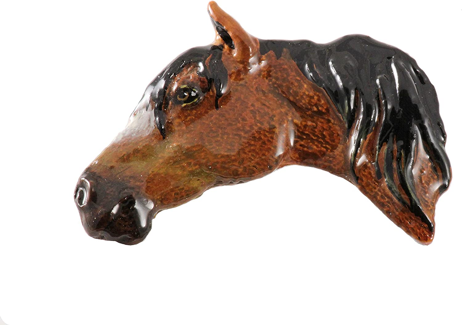 Creative Pewter Designs Horse Handcrafted Tampa Mall OFFicial shop Lapel Head Pi