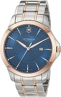 Victorinox Men's Swiss Quartz Watch with Stainless Steel Strap, Blue, 21 (Model: 241911)