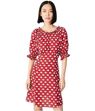 Kate Spade New York Block Flower Fluid Dress