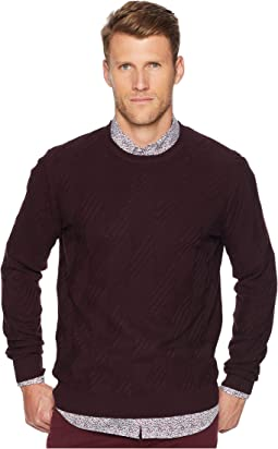 Texture Pattern Crew Sweater