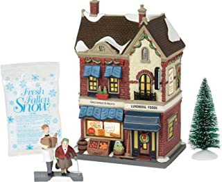 Department 56 Christmas in The City Village Lundberg Foods Lit Building and Accessories, 8.75
