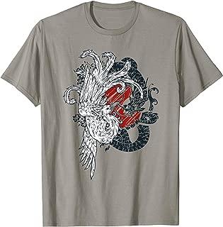 ying yang dragon t shirt chinese lizard vs phoenix rising