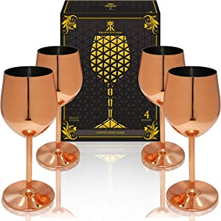 Best black and copper wine glasses Reviews