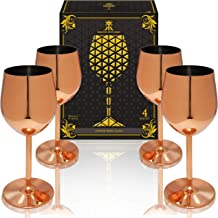 Best copper stainless steel wine glass Reviews