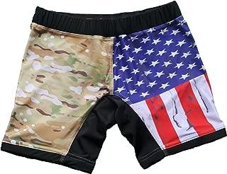 USA Flag & Camo Vale Tudo Compression Shorts