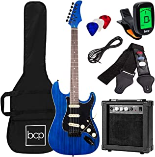 Best Best Choice Products 39in Full Size Beginner Electric Guitar Starter Kit w/Case, Strap, 10W Amp, Strings, Pick, Tremolo Bar - Midnight Blue Reviews