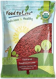 Organic Goji Berries, 6 Pounds - Sun Dried, Large and Juicy, Non-GMO, Raw, Vegan, Bulk