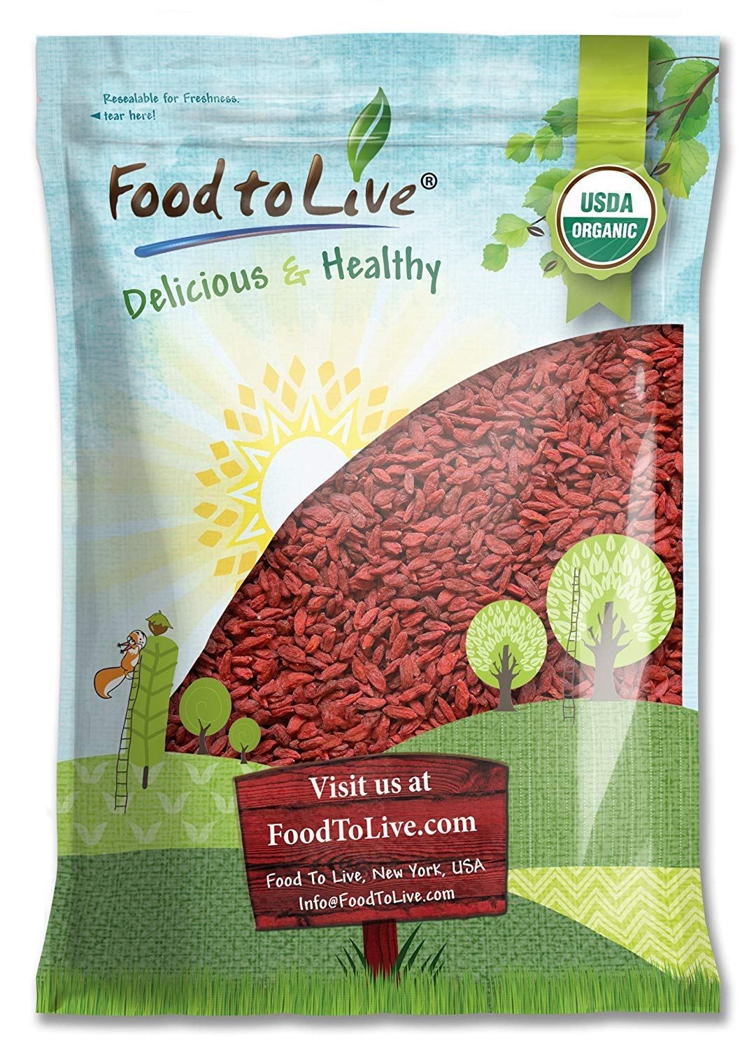 Organic Goji Berries Sale price sale 6 Pounds - Large Sun and Non Dried Juicy