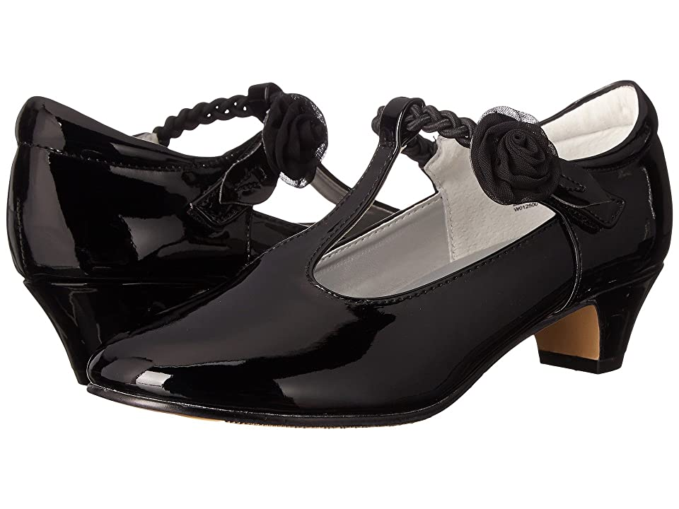 Jumping Jacks Kids Balleto Kate (Little Kid/Big Kid) (Black Shiny/Black) Girls Shoes