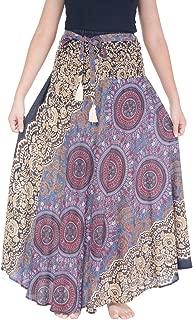 Lannaclothesdesign Women's Long Maxi Skirt Bohemian Gypsy Hippie Style Clothing