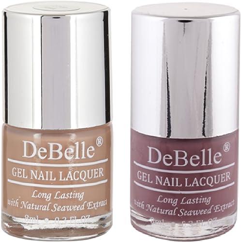 DeBelle Nail Polish Combo Set of 2 (Light Brown & Mauve) product image