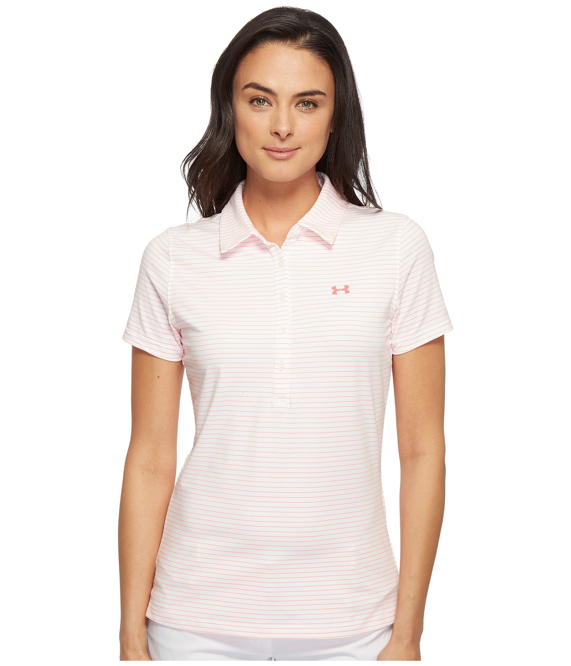 Camiseta Tipo Polo para Mujer Under Armour Golf Zinger Stripe Polo  + Under Armour en VeoyCompro.net