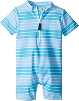 Aqua Stripe Sunsuit (Infant/Toddler)
