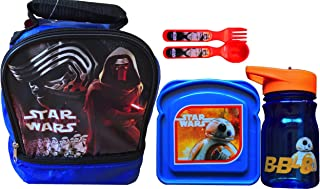Star Wars Rebels Children's Lunch Box Gift Set Includes Star Wars Sandwich Container with Star Wars Water Bottle and Star ...