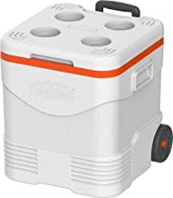 Cosmoplast Keep Cold Plastic Picnic Trolley Icebox Roller Cooler with Wheels 45 Liters