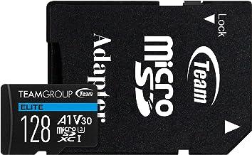 TEAMGROUP Elite A1 128GB microSDXC UHS-I U3 V30 A1 High...