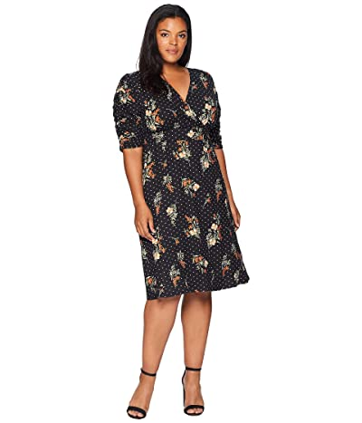 Kiyonna Gabriella Dress (Poppy Dot Motif) Women