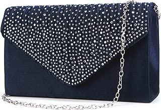 Nodykka Women Evening Envelope Handbag Party Bridal Clutch Purse Shoulder Cross Body Bag