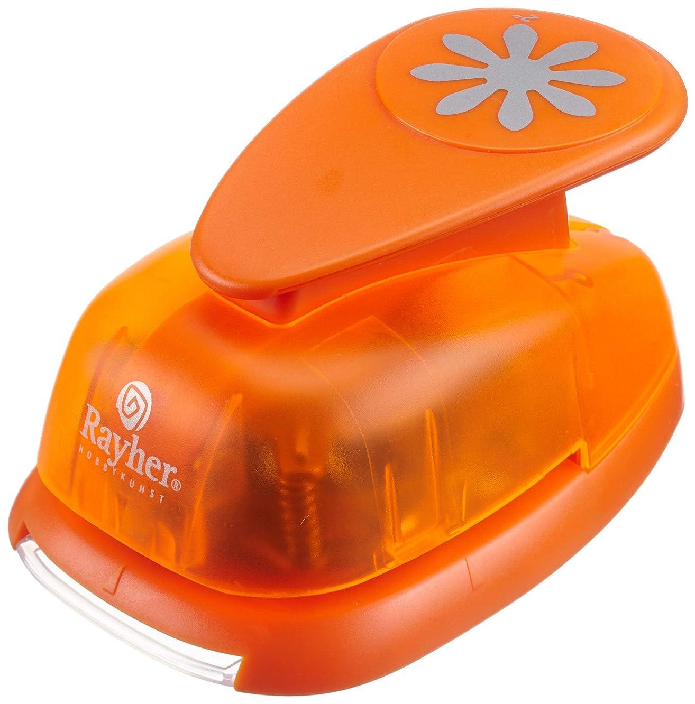 Rayher Daisy Motive Puncher, Orange, 5.08 cm