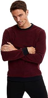 DeFacto Heren Regular Fit gebreid sweatshirt, hoodies voor mannen, sweatshirts voor mannen, pullover voor heren hoody.
