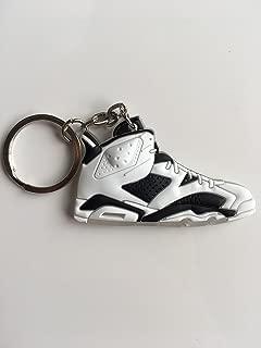 Jordan Retro 6 Oreo Sneaker Keychain Shoes Keyring AJ 23 OG