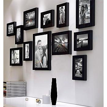 Art Street Decorative Premium Nebula Set of 12 Individual Wall Photo Frame - Black(4X6-7 Unit, 6X8-4 Units, 8X10- I Unit)