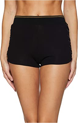 Urban Lace-Up High-Waisted Boyshorts
