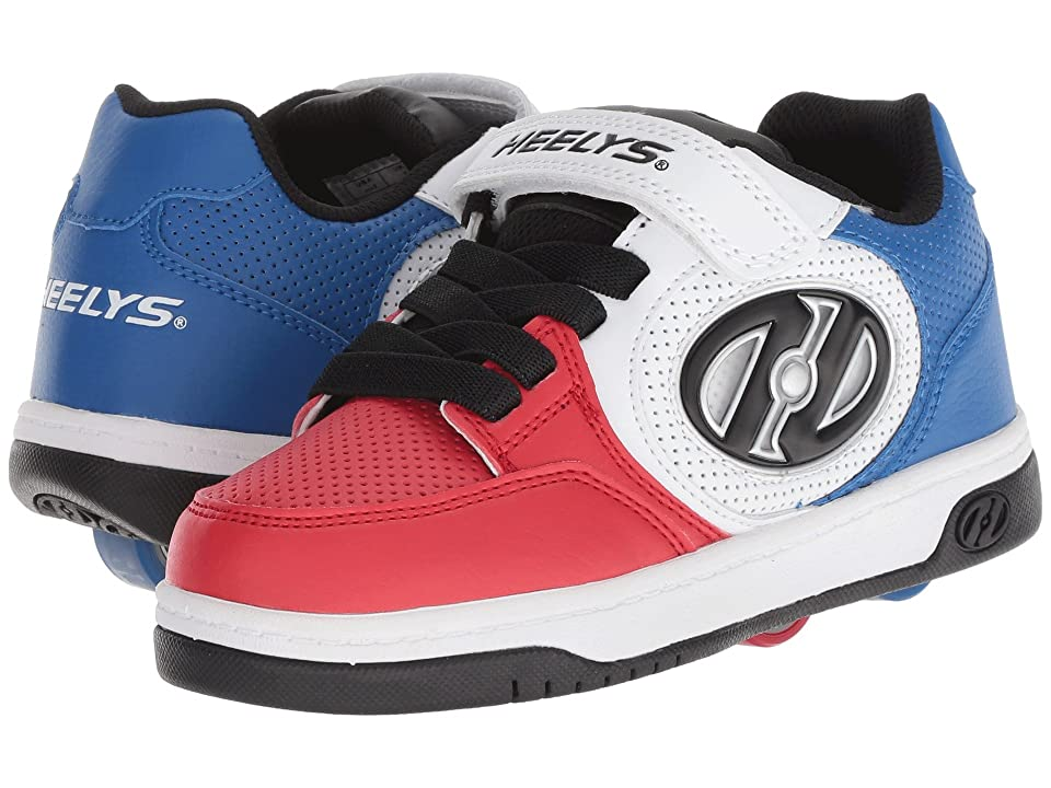 Heelys Plus X2 Lighted (Little Kid/Big Kid) (Blue/White/Red) Boys Shoes