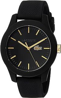 Lacoste 2000959 - Reloj de cuarzo para mujer (acero inoxidable, correa de silicona), color negro