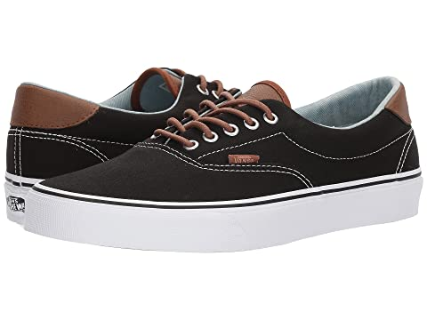 vans era 59 skate shoe black denim