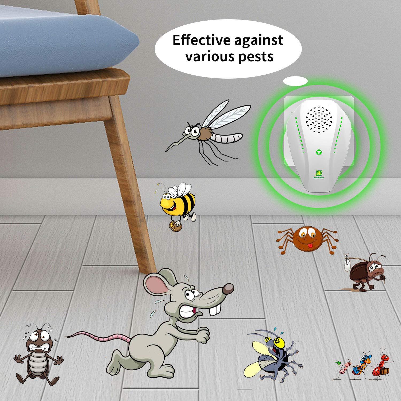 Neatmaster Repelente de plagas ultrasónico, Repelente de Insectos ...