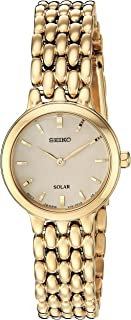 Seiko Women's Ladies Dress Japanese-Quartz Watch with Stainless-Steel Strap, Gold, 12 (Model: SUP352