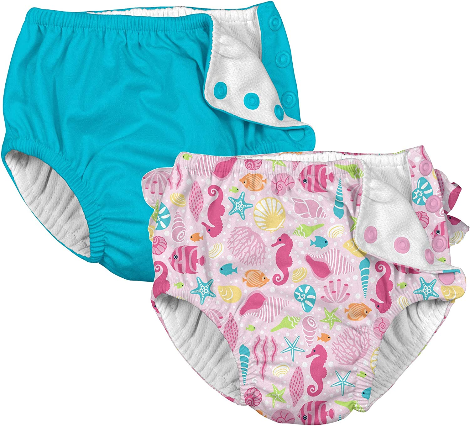 i Play. Baby Girls Cloth Reusable Swim Diaper - 2 Pack: Clothing, Shoes & Jewelry