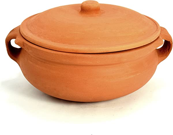 Ancient Cookware Clay Curry Pot Medium 8 Inch