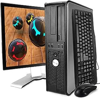 Dell Optiplex Desktop with 22in LCD Monitor (C2D 2.93, 4GB, 500GB, WiFi, Windows 10), Black (Renewed)
