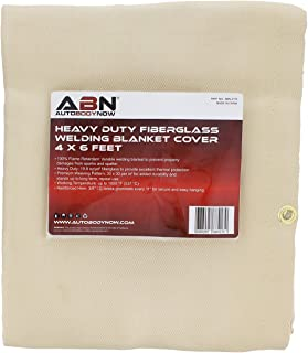 ABN Heavy-Duty Fiberglass Fire Retardant Blanket, 4 x 6ft – Small Welding Fireproof Thermal Resistant Insulation