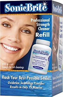 SonicBrite Professional Strength Dental Appliance Cleaning Powder 7 oz | Retainer, Aligner, Mouth Guard & Denture Cleaner eliminates stains, odor causing bacteria and full, or partial buildup