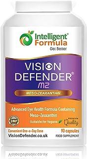 Suplemento Meso Zeaxanthin Vision Defender MZ: para los Ojos – Protege y Mejora la Salud Macular & el Cuidado de los Ojos con Meso-Zeaxantina Vegana de Alta Resistencia (90 Cápsulas/Una-diaria)