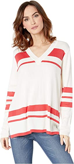 V-Neck with Stripes