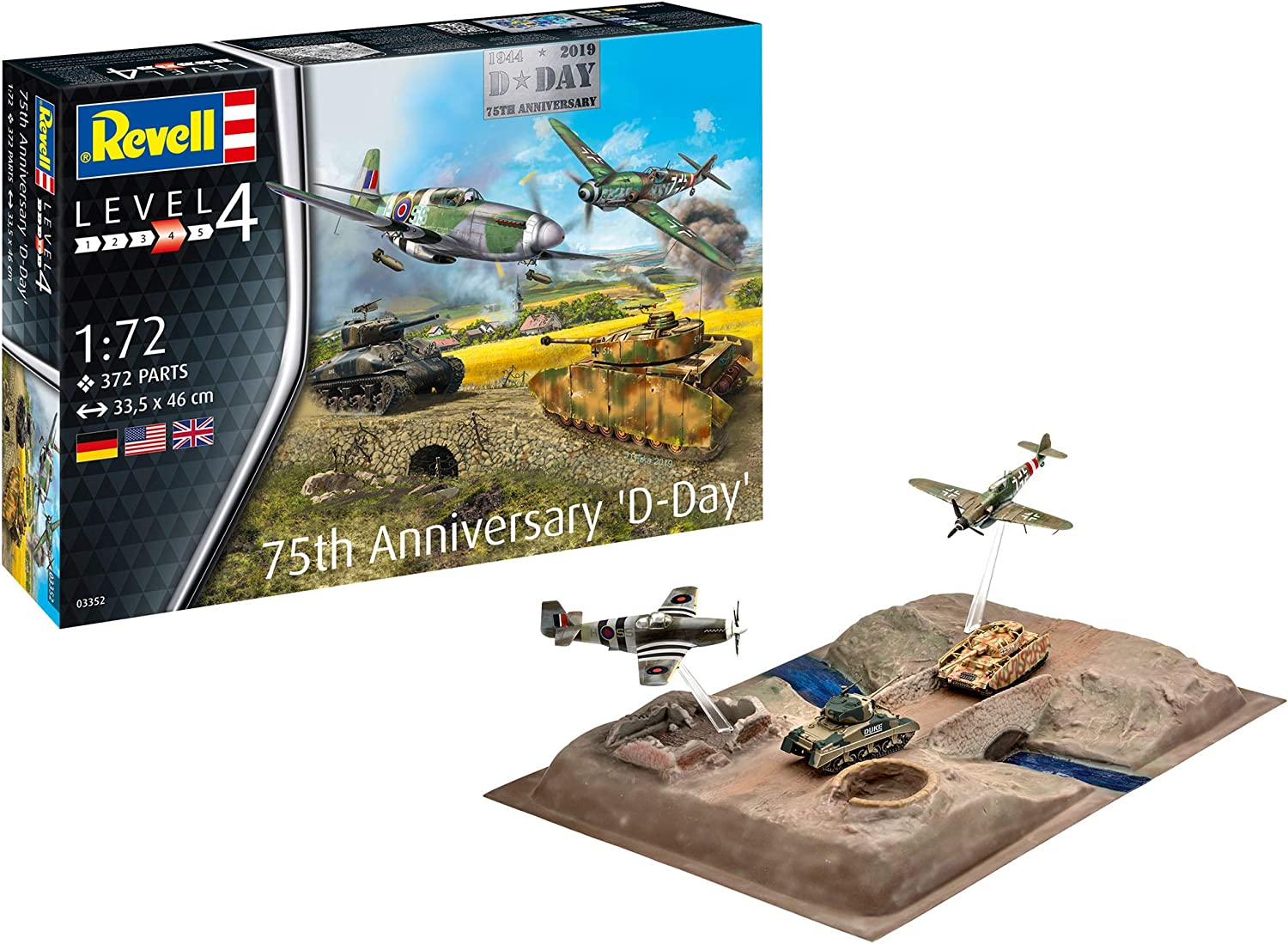 Revell RV03352 Special price 03352 1:72 D-Day Plastic Max 68% OFF Set kit 75th Model