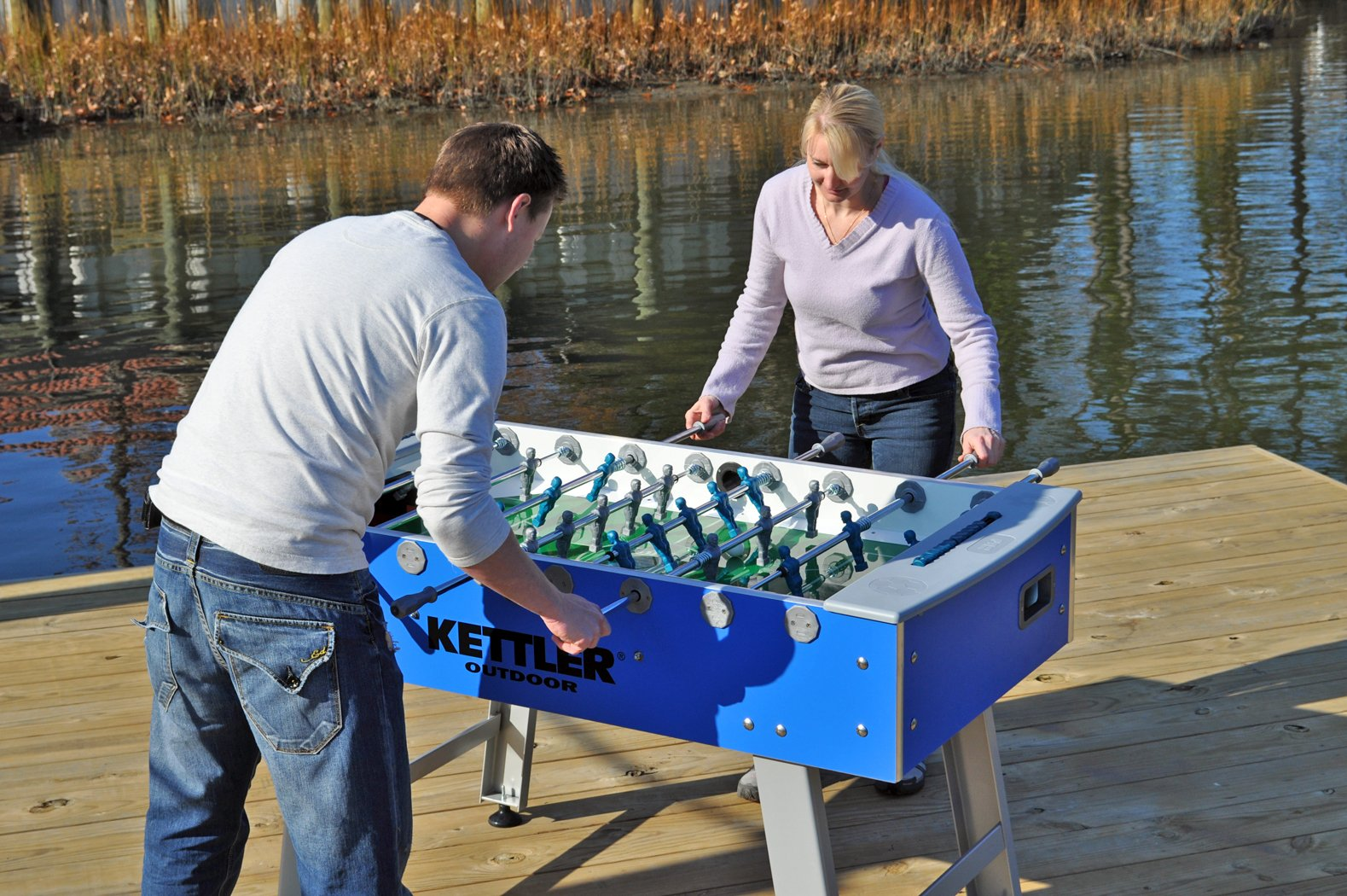 11. The 58-inch Kettler Cavalier, and Outdoor Foosball Table
