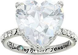 Betsey Johnson Blue by Betsey Cubic Zirconia Heart-Shaped Stone Crown with Pave Accents and Base and Ring Shank
