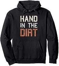Football Lineman Hoodie Hand In The Dirt Gifts Men Teen Boys