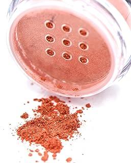 Pure Ziva Coral Reef Dark Peach Pink Loose Powder Mineral Glitter Eye Shadow Eyeshadow Dust Pigments, Single Jar Pot, Talc...