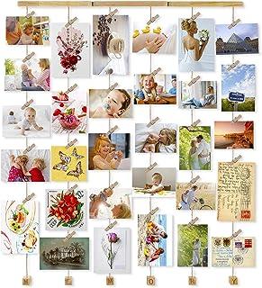 Love-KANKEI フォトフレーム 壁掛け 写真立て フォトディスプレイ 写真フレーム グリップ式 ネジ付き 最大30枚 MEMORY
