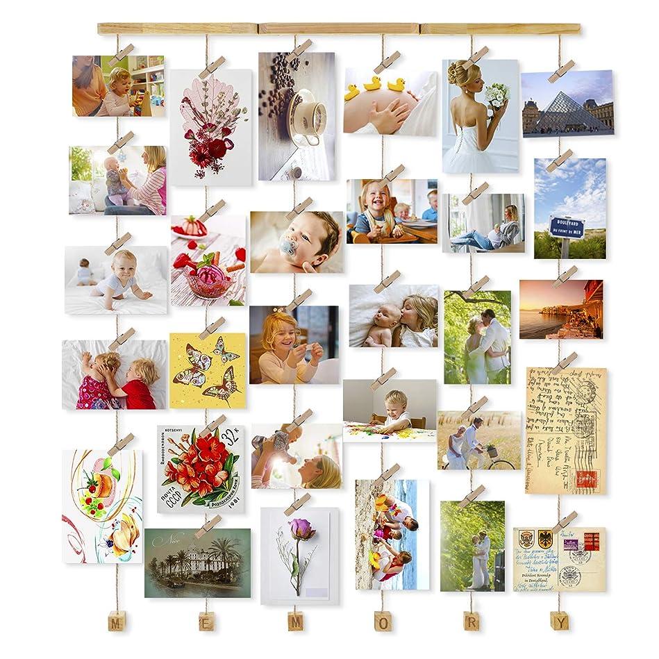 めまいボット音楽家Love-KANKEI フォトフレーム 壁掛け 写真立て フォトディスプレイ 最大30枚 Memory