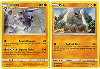 Evolution Card Set - Steelix - 104/236 - Sun Moon Unified Minds -Rare Card Lot