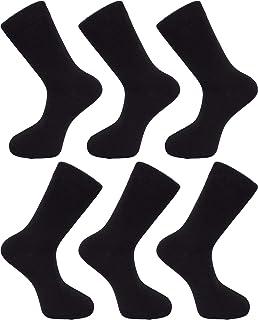 Calcetines Lisos Hombre - Algodón Rico, Cómodo, Transpirable Negro Azul Marino Gris Beige