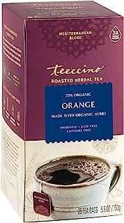 Teeccino Herbal Tea – Orange – Enjoy Hot or Iced Tea Made with Roasted Chicory, Carob & Barley, Prebiotic, Caffeine Free, ...