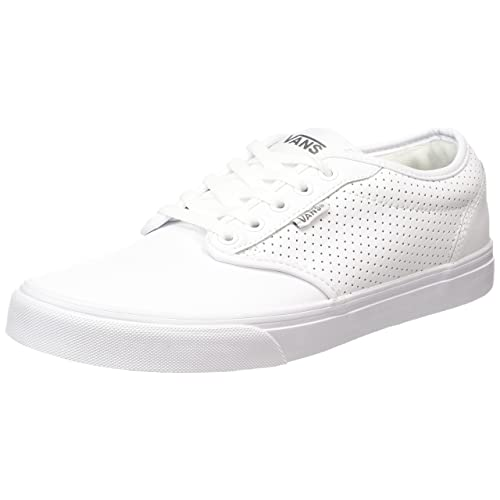 e8c549930d Vans Men s Atwood Perf Leather Shoes White White Fashion Sneakers